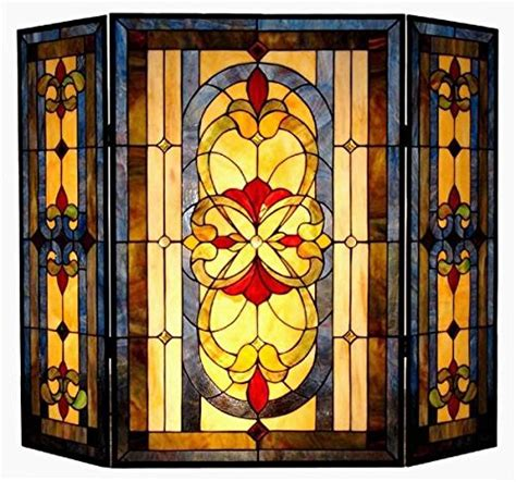 stained glass fireplace screen fireplace screens accessories webnuggetz