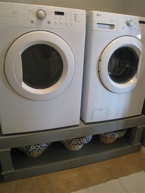diy laundry pedestal washer and dryer pedestal reveal shanty 2 chic