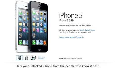 iphone 5 price unlocked factory unlocked iphone 5 price starts from 649 in u s 3152