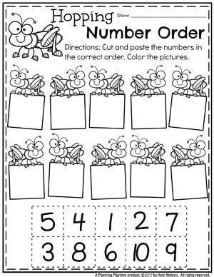 number worksheets abc order kindergarten