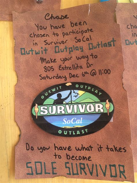 Pin by Mark Souther on Survivor Party | Survivor party ...