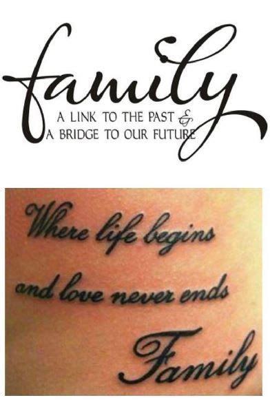 foto de Tatuaggi con Significato di Famiglia Tatuaggi con frasi