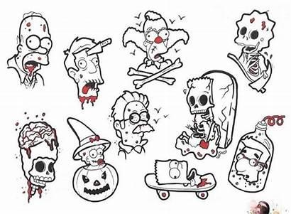 Simpsons Tattoo Halloween Tattoos Flash Cartoon Character