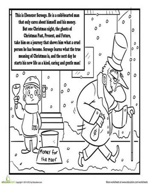 charles dickens a christmas carol coloring page colors