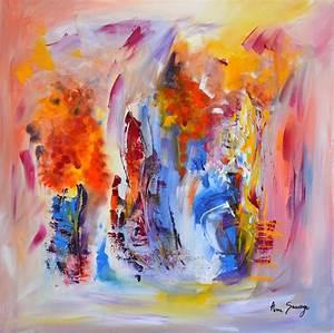Tableau Peinture Moderne : peinture abstraite tableau contemporain moderne d 39 artiste peintre amesauvage ~ Teatrodelosmanantiales.com Idées de Décoration