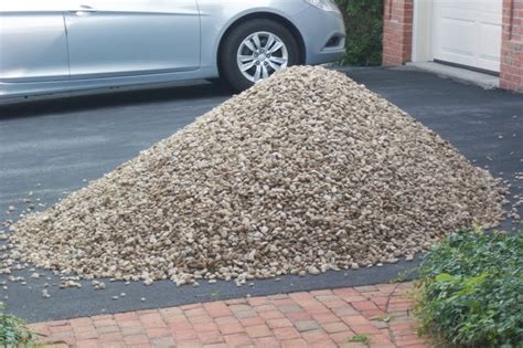 How Much Area Does A Yard Of Gravel Cover by Carnoustie My Diy Pit With River Rocks