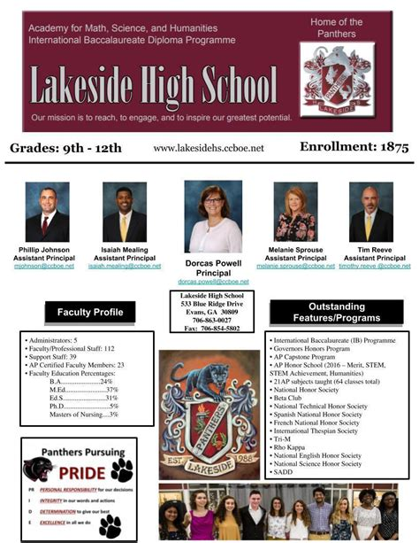 school profile lakeside high school