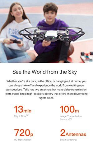 tello quadcopter drone  hd camera  vrpowered  dji technology  intel processor