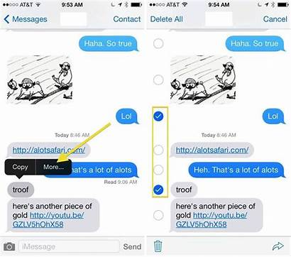 Messages Text Delete Iphone Ios Tips History