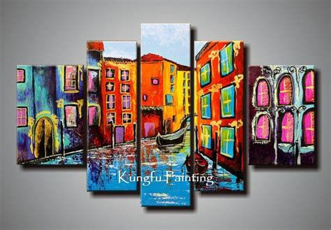 2018 100 painted abstract 5 panel canvas living room wall decor painting modern sets