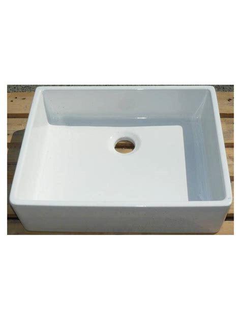 evier blanc rectangulaire a bords droits 50x40 cm