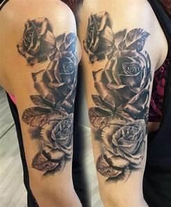 Rosen Tattoos Schwarz : tattoo schwarze rosen oberarm kunst und krempel pinterest tattoos black tattoos und ~ Frokenaadalensverden.com Haus und Dekorationen