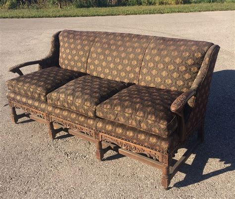 wooden settee antique style wooden frame removable