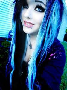 Pretty Emo Girls with Blue Hair