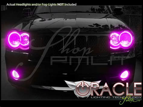 pink jeep grand cherokee oracle 08 10 jeep cherokee srt8 led colorshift halo rings