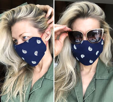 sew diy face mask  bandana hair