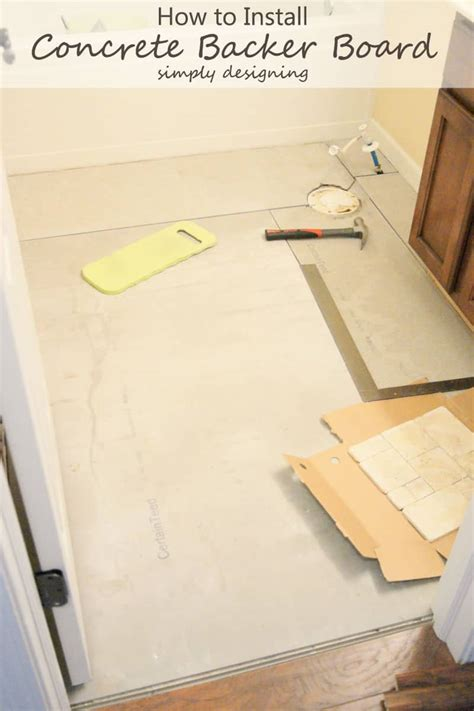 how to install concrete backer board tile installation