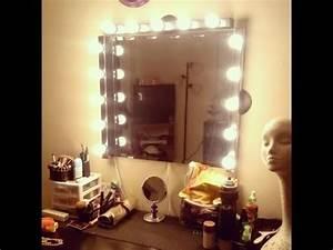 Ikea Hollywood Mirror With Lights Diy Vanity Girl Inspired Hollywood Mirror Youtube