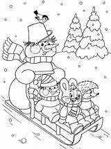 Coloring Winter Season Preschool Kindergarten Crafts Toddler Worksheets sketch template