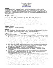 Experience Resumes On Oracle by Sle Resume For Oracle Pl Sql Developer Great Resumes