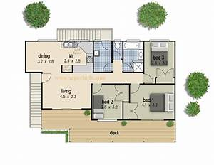 simple 3 bedroom house plan superhdfx With simple three bedroom house plans