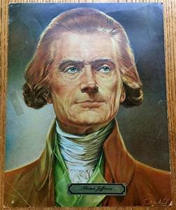 """Free: Vintage 1969 President """"Thomas Jefferson"""" 11 X 14 ..."""