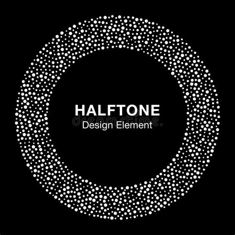 Abstract White Circle Black Background by White Abstract Halftone Circle Logo Design Element On