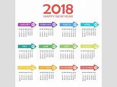 Acuarela azul y rosa calendario floral 2018 Descargar