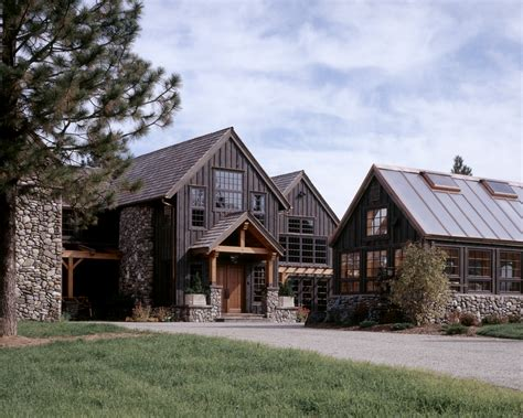 brnr mountain style home exterior rocky mountain homes