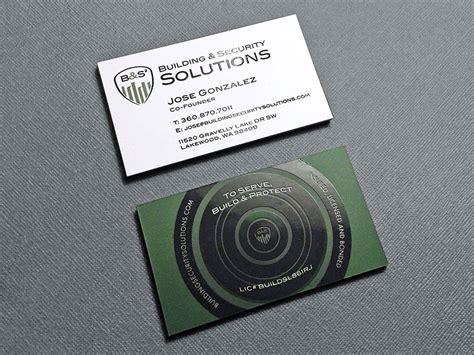 security system company business card kraken design