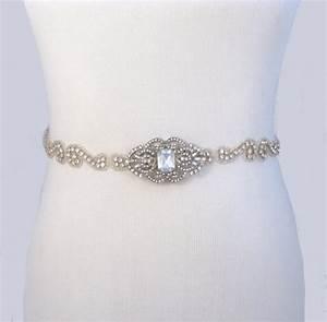 35 satin colors wedding dress belt jeweled beaded bridal With beaded belt for wedding dress
