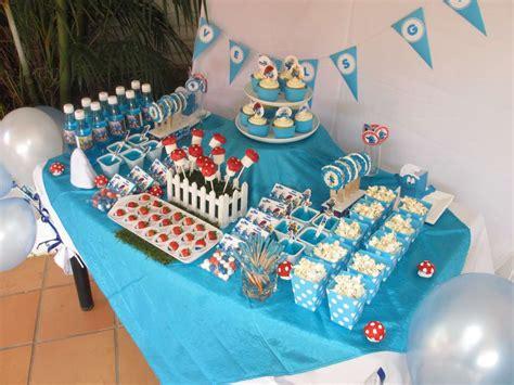 smurfs birthday party ideas photo    catch  party