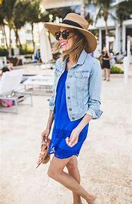 Beach Dress and Denim Jacket