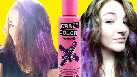 hot purple hair renbow crazy color review   youtube