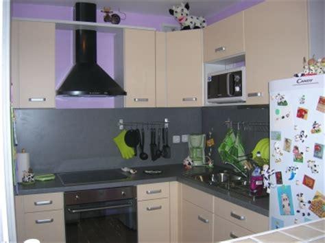 deco cuisine violet déco cuisine gris et violet