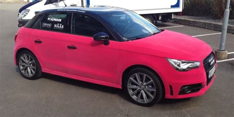 pink audi a7 audi a1 wrapped in pink velvet video autoevolution
