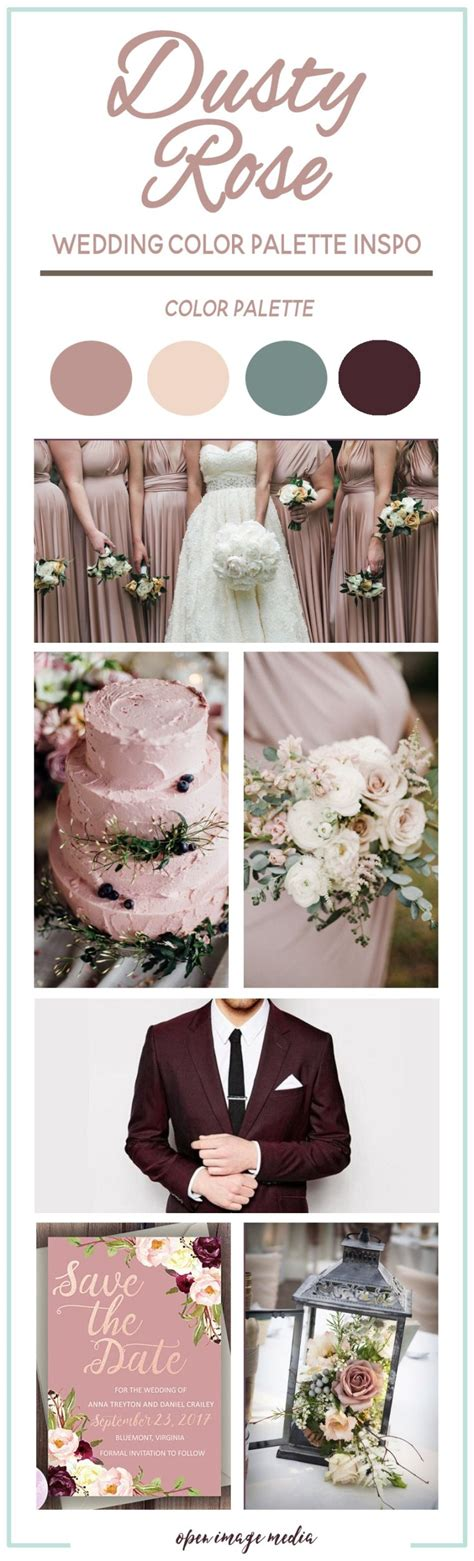 Dusty Rose Wedding Color Palette Inspiration Open Image