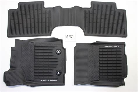 Toyota All Weather Floor Mats by Oem All Weather Front Rear Floor Mats Toyota Tacoma Access