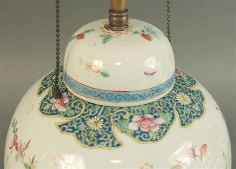 chinese ginger jar table ls highly decorated chinese ginger jar l base on wood