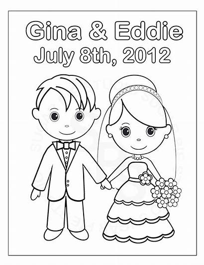 Coloring Pages Groom Bride Printable Activity Childrens