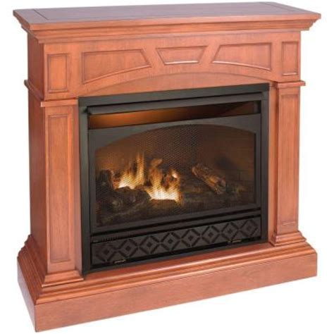 home depot gas fireplace procom 47 in vent free dual fuel gas fireplace in
