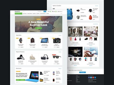 20 elegant free ecommerce psd website templates