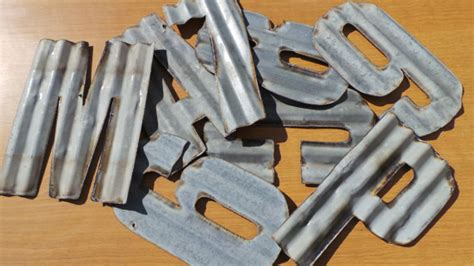 corrugated metal letters 10 in recycled corrugated metal letters a z