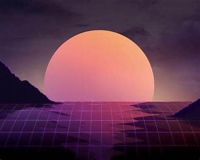 4k Sunset Vapor Wave Vaporwave Wallpapers 1024