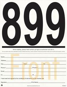 silent auction bidding slip 100 count images frompo With auction bid cards template