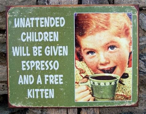 funny metal unattended children retro sign home wall decor