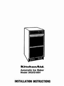 Kitchenaid Ice Maker 3kuis185v User Guide