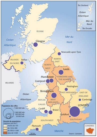 Carte Angleterre Grandes Villes by Encyclop 233 Die Larousse En Ligne Grande Bretagne Population