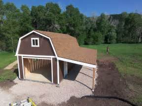 a garage a loft and a carport this tuff shed garage has all the space you could need for