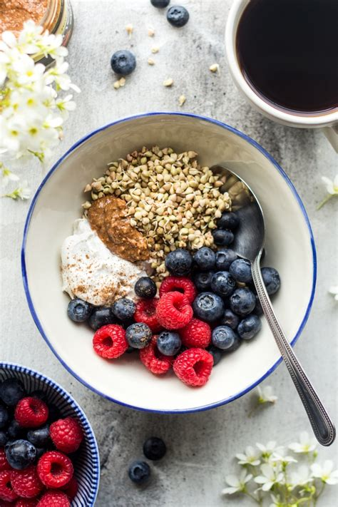 sprouted buckwheat breakfast bowl lazy cat kitchen